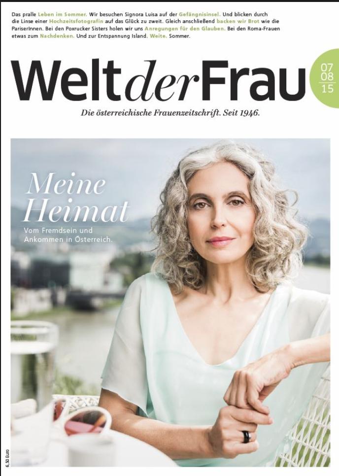 Ein Titelbild des Welt der Frau Magazins